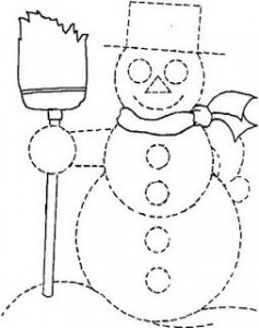 snowman trace worksheet