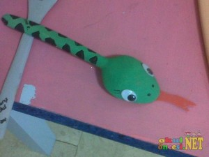 spoon snake craft