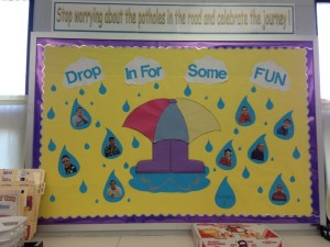April bulletin board for kids