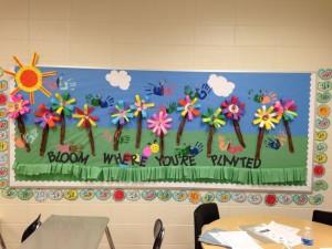 spring bulletin board 7