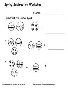 spring-subtraction-worksheet-printable