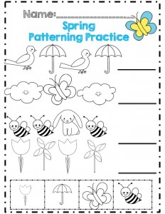 spring worksheet for kids