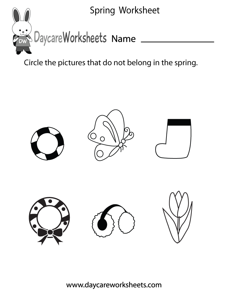 Printable Spring worksheet for kids | Crafts and ...