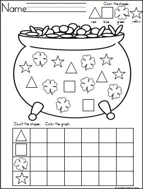 St Patrick Day Worksheets - Synhoff