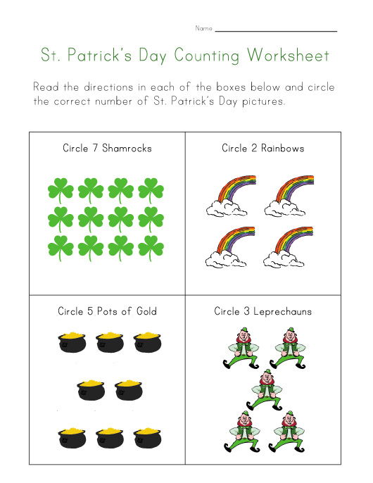 CraftsActvities and Worksheets for PreschoolToddler and Kindergarten – St Patricks Day Worksheets