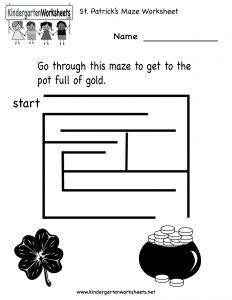 st-patricks-maze-worksheet-printable