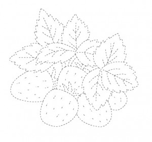 strawberyy trace worksheet