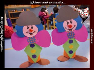 toilet paper roll clown craft