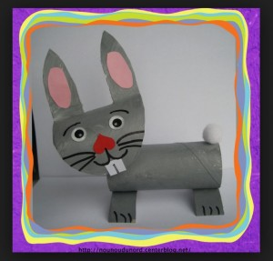 toilet paper roll rabbit craft