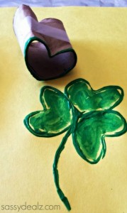 toilet paper roll stamp Shamrock