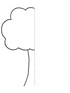 tree  Symmetry Activity Coloring Pages