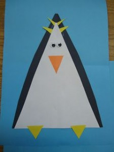 triangle penguin craft