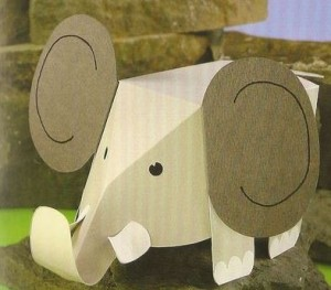 3d elephant craft