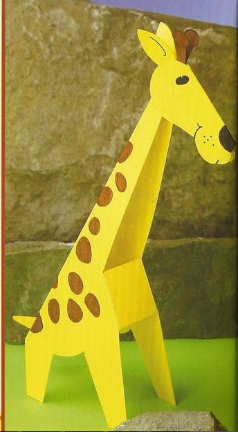 D Giraffe Craft on preschool activities worksheets