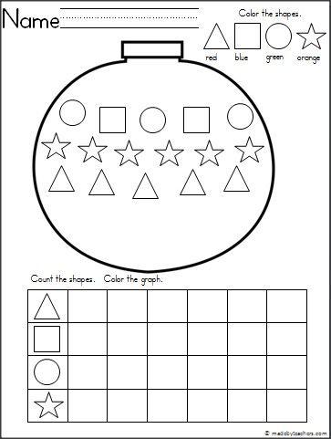 Christmas ornament graph worksheet
