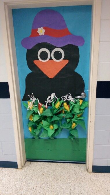 Crow And Corn Classroom Door Decoration on color by number coloring pages for preschool