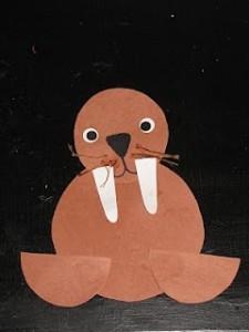Easy Arctic Animals Walrus Craft
