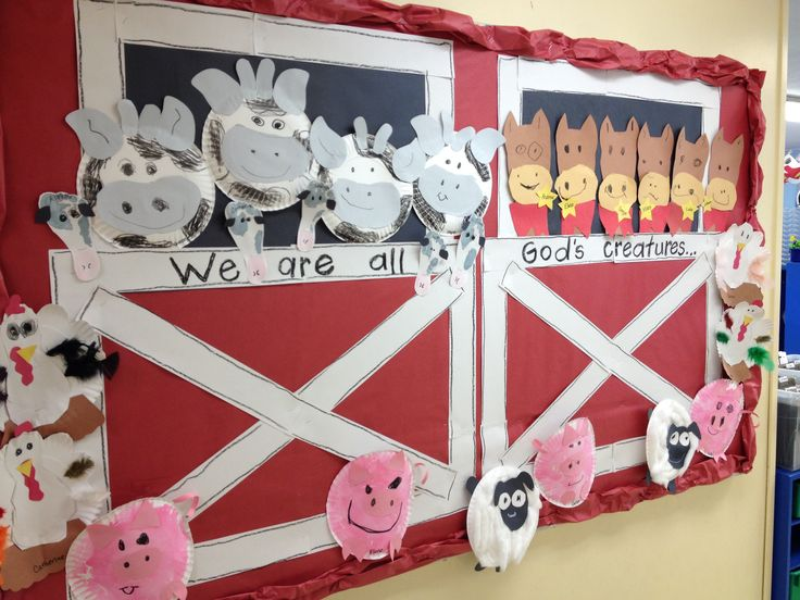 Farm animal bulletin board idea