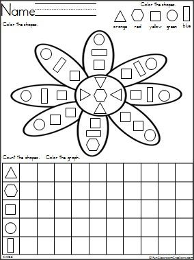 Flower shapes and graph