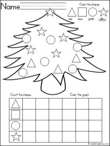 Free Christmas Tree Graphing Activity