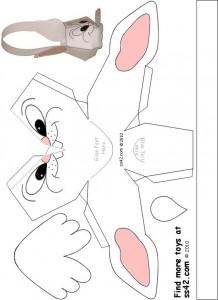 Free Printable Bunny Easter Basket