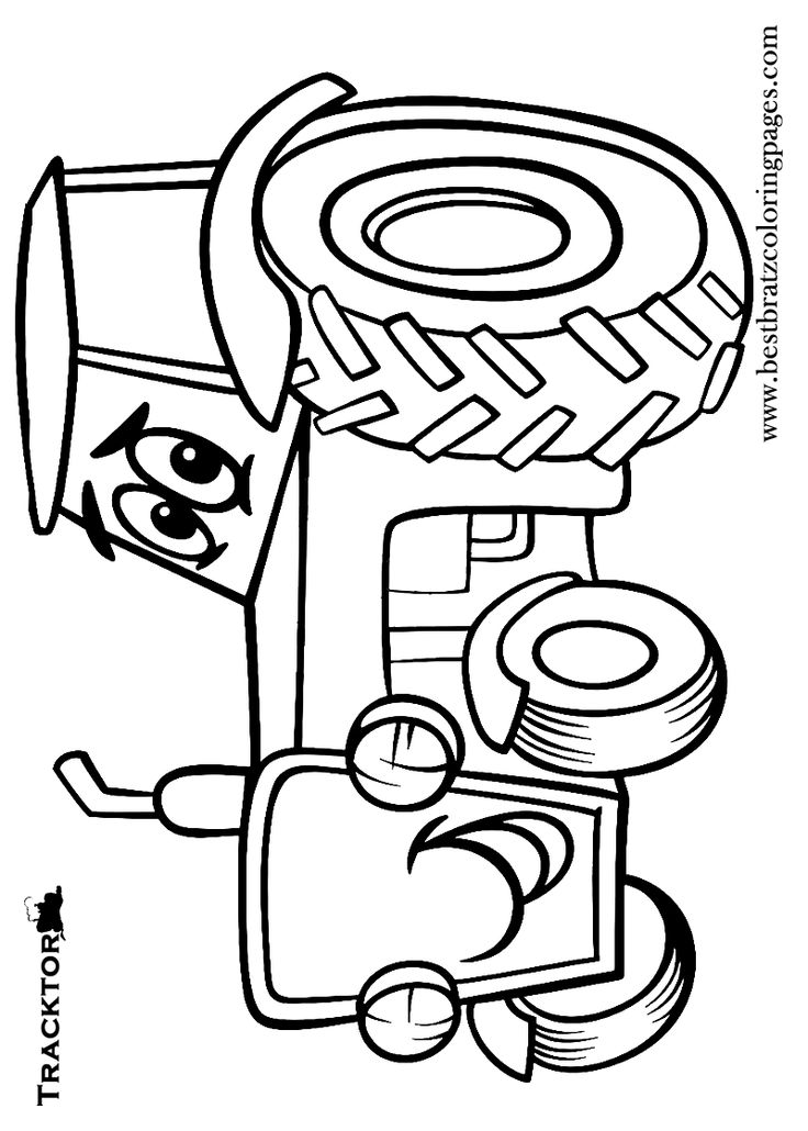 Crafts actvities and worksheets for preschool toddler and for Tractor coloring pages to print