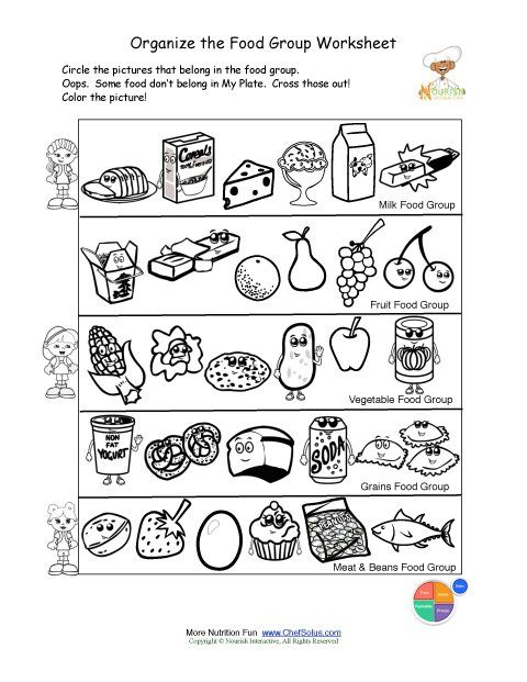 Food worksheet for kids | Crafts and Worksheets for Preschool ...