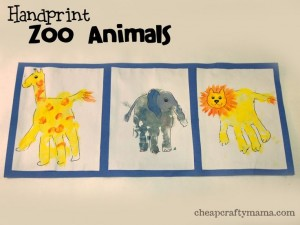 Handprint Zoo Animals