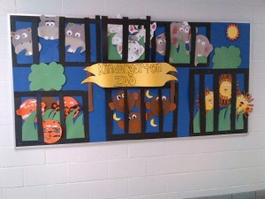 Kindergarten Zoo Bulletin Board