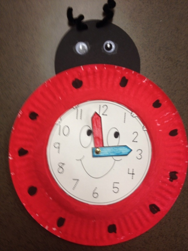 Ladybug clock craft · paper plate ... & Paper plate ladybug crafts | Crafts and Worksheets for Preschool ...