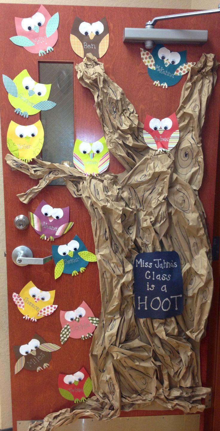 Owl classroom door idea