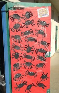 Spider Door Decorating Idea