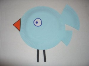 Spring Bluebird Paper Plate Craft