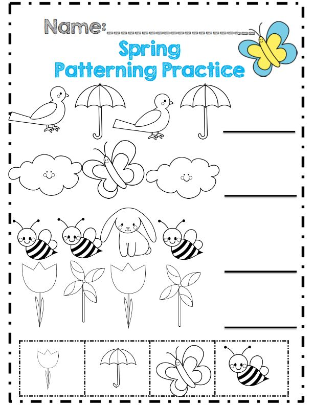 Spring patterning practice | Crafts and Worksheets for ...