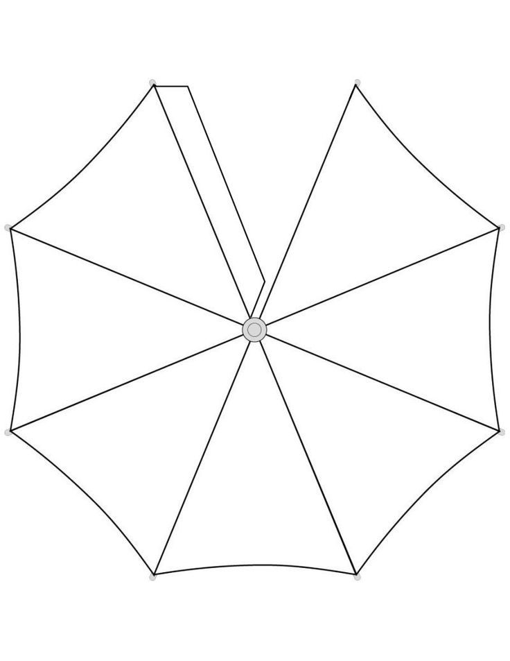 umbrella pattern for preschool crafts actvities and worksheets for preschool toddler and 256