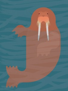 Walrus craft idea
