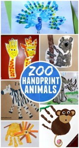 Zoo Animal Handprint Crafts for Kids