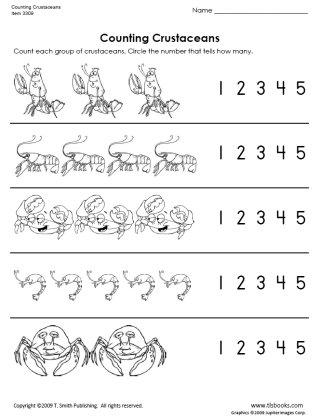 animal number count worksheet (2)