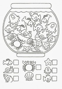 math worksheet : animal number count worksheet for kids  crafts and worksheets for  : Counting Worksheet Kindergarten
