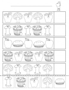 math worksheet : fall pattern worksheets for kindergarten  fall pattern worksheets  : Kindergarten Patterning Worksheets