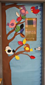 bird classroom door decorations