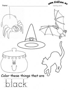 black color worksheet - Colour Worksheet For Kids