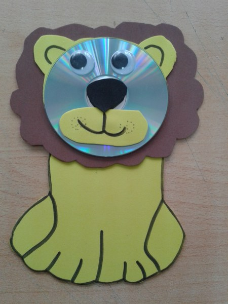 Cd Lion Craft 450x600 Easy Craft From Cd