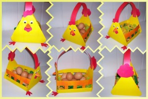 chicken egg basket craft