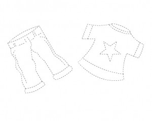 clothes trace worksheet