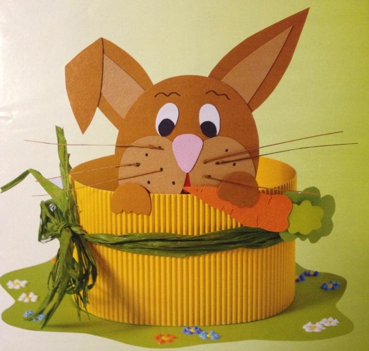 easter bunny basket craft idea for kids (4)