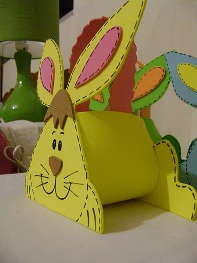 easter bunny basket craft idea for kids (5)