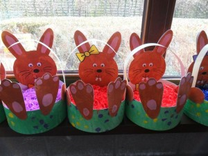 easter bunny basket craft idea for kids (8)