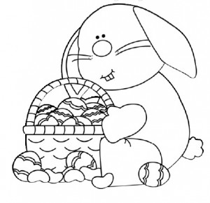 easter bunny coloring