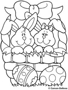 Easter Bunny Coloring Page Crafts And Worksheets For Preschool Easter Bunny Coloring Pages